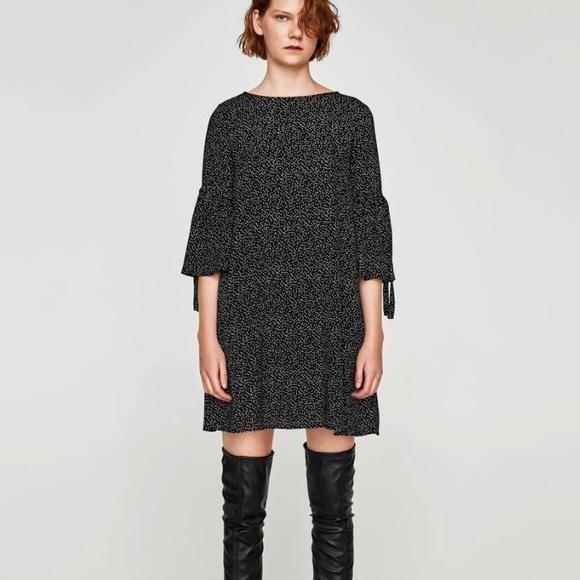 fb34dfe7 Zara Dresses | Nwt Dress With Frilled Sleeves | Poshmark